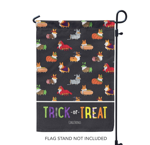 "NEW! ""Corgis in Costumes"" Garden Flag 