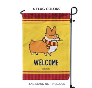 """Wizard"" Corgi Garden Flag 