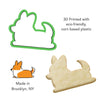 Sploot Corgi Cookie Cutter (With Tail)