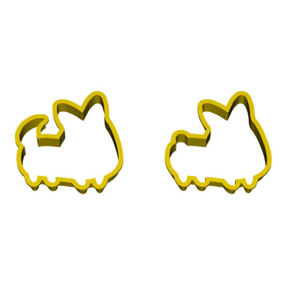 Set of 2 | Corgi Cookie Cutters (Front Facing)