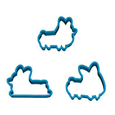 Set of 3 | Corgi Cookie Cutters (Classic)