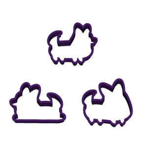 Set of 3 | Corgi Cookie Cutters (With Tails)
