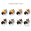 "Customizable ""Corgi On Board"" Corgi Cart Mesh Sun Shade 