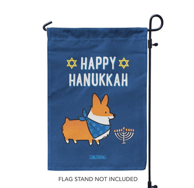 """Happy Hanukkah"" Garden Flag 