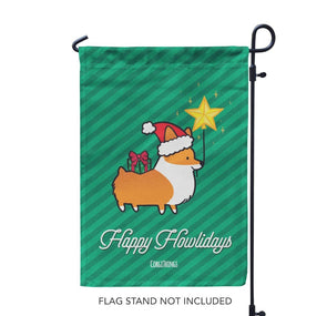 """Happy Howlidays"" Garden Flag"