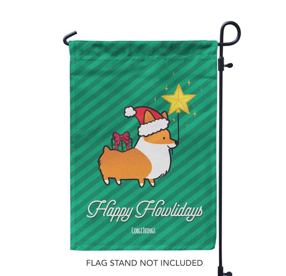 """Happy Howlidays"" Garden Flag 