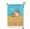 """Beach Party"" Corgi Garden Flag"