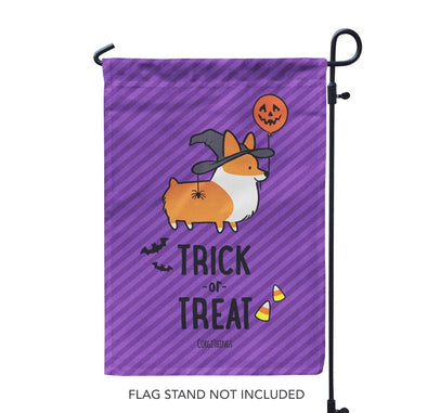 """Witchy Corgi"" Garden Flag 