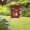 """Gobble 'Til You Wobble"" Corgi Garden Flag"
