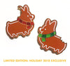 """Gingerbread Corgis"" Enamel Pin Set 