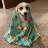 Pineapple Corgi Fleece Blanket | 3 Sizes