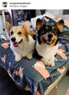 Corgis & Wine Fleece Blanket | 3 Sizes
