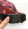 """Cool Corgis"" Burgundy Red Fanny Pack"