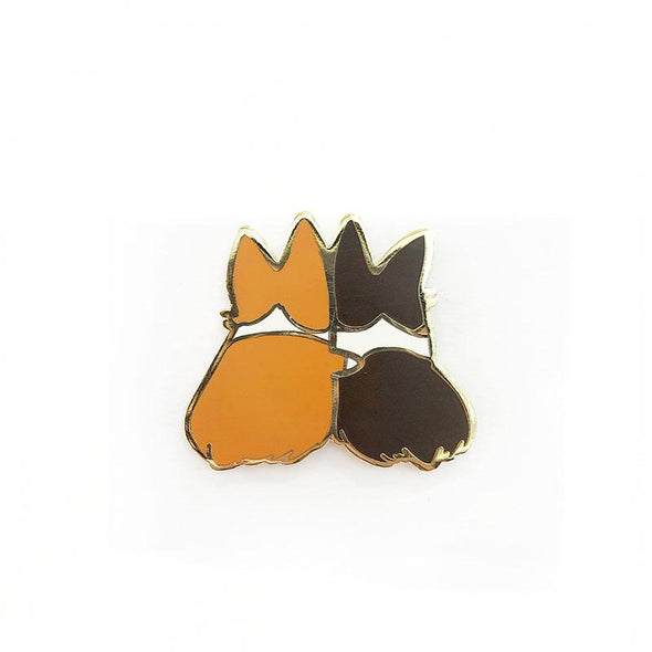 """Best Furiends Furever"" Corgi Enamel Pin"