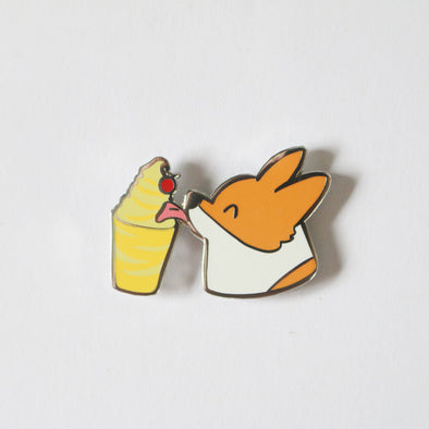 Corgi Pineapple Dole Whip Enamel Pin | Exclusive