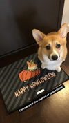 """Corgi Howloween Pumpkin"" Floor Mat 