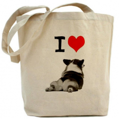 I Love Corgis Tote Bag