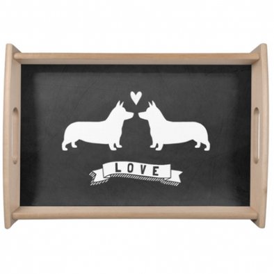 Corgi Love Large Serving Platter