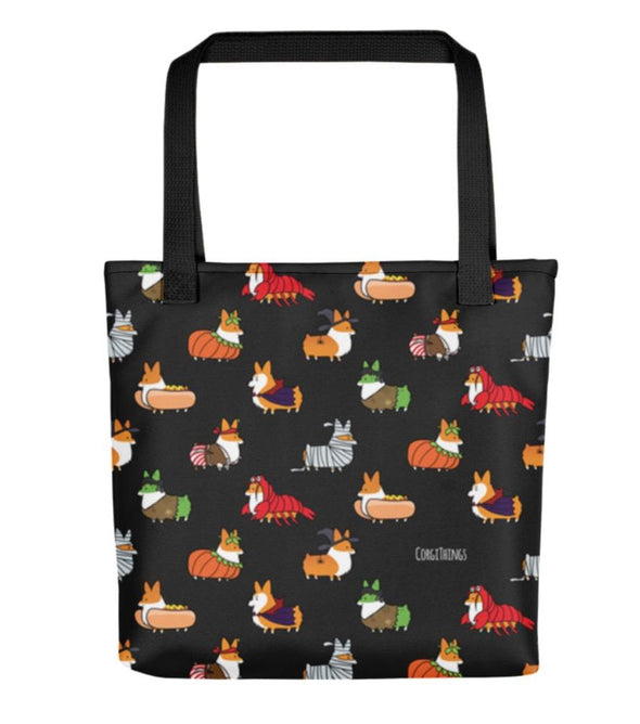 """Corgis in Costumes"" Tote Bag 