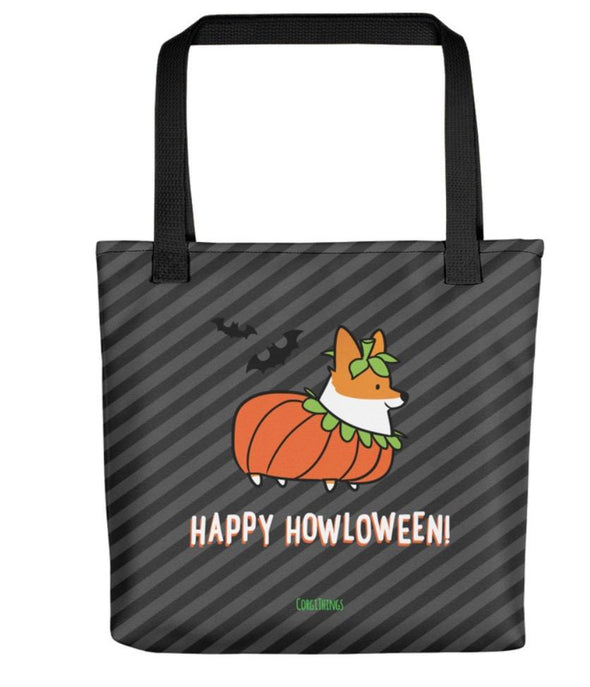 """Corgi Howloween Pumpkin"" Tote Bag 