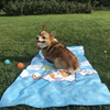Summertime Loafin' Corgi Beach Towel
