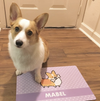 "Custom Corgi Fabric Pet Placemat | 12"" x 18"""