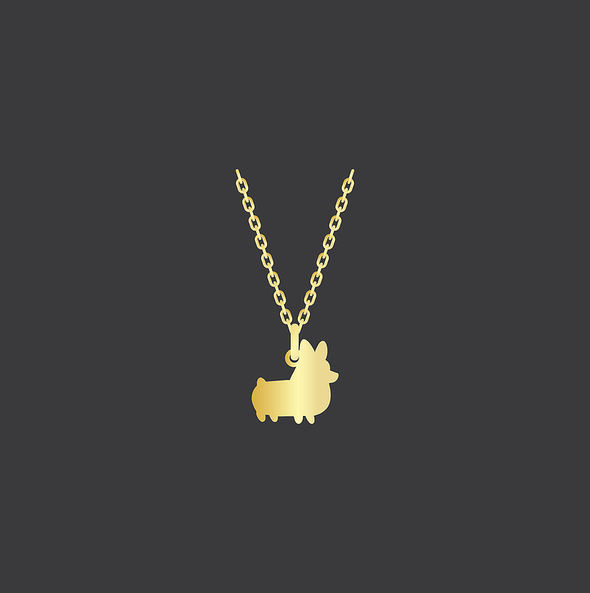 PREORDER: Corgi Things Necklace | GoldFilled