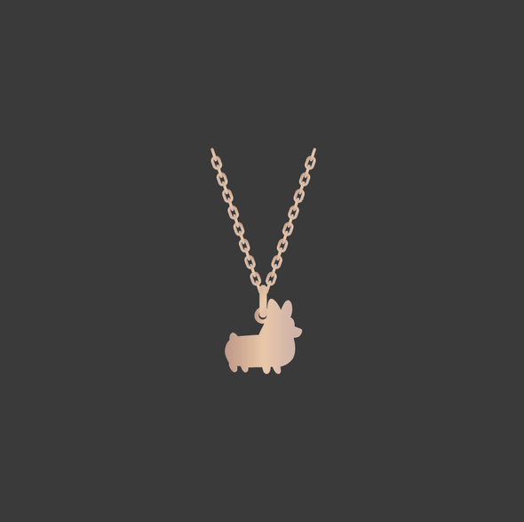 PREORDER: Corgi Things Necklace | Rose GoldFilled