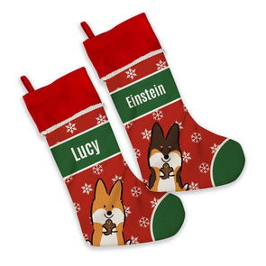 NEW! Customizable Corgi Christmas Stocking | Holiday Collection