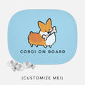 "Customizable ""Corgi On Board"" Mesh Sun Shade 