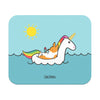 """Summertime Loafin'"" Corgi Unicorn Floatie Mousepad"
