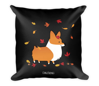"""Welcome Autumn"" 18x18 Square Pillow"