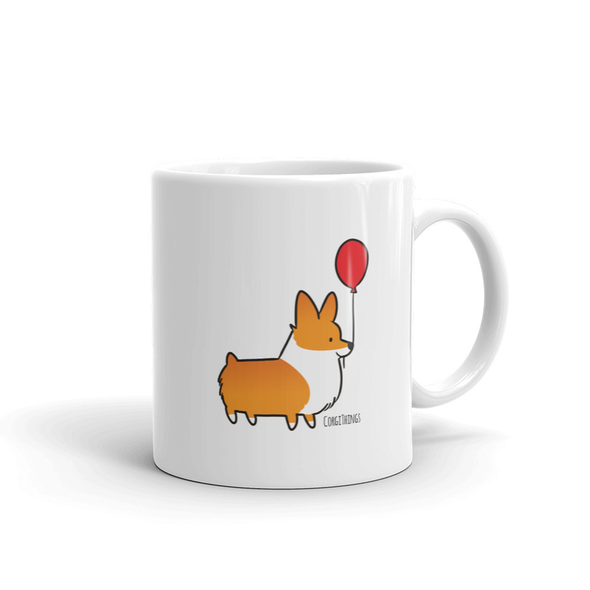 Red Balloon Corgi Mug | 11oz or 15oz