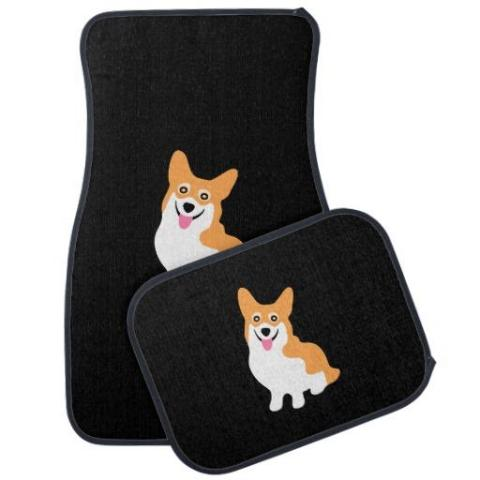 Smiling Corgi Car Mats