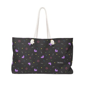 "NEW! ""Retro Vibes"" Corgi Oversized Tote Bag"
