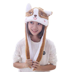 Corgi Funny Plush Animal Hat