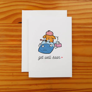Get Well Soon Corgi Greeting Card