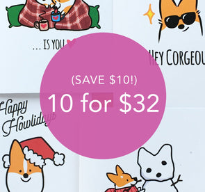 "Pick ANY 10 Cards for $32 | 5x7"" Cards w/Envelopes 