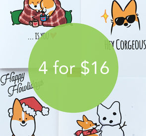 "Pick ANY 4 Cards for $16 | 5x7"" Cards w/Envelopes 
