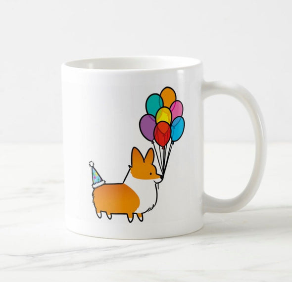 Birthday Celebrations Corgi Mug | 11oz / 15oz