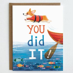 Corgi Graduation Card