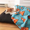 Blue Corgi Butts & Bones Fleece Blanket | 3 Sizes