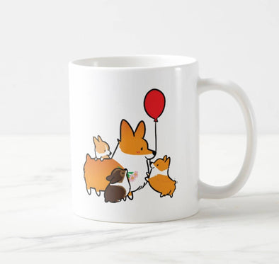 I Woof You Corgi Mom and Puppies Mug | Available in 11 or 15oz