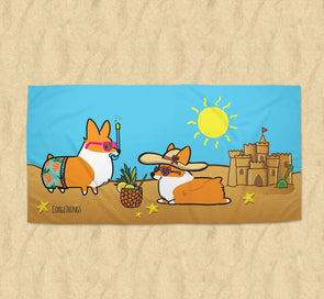 Corgi Beach Party Towel | 2 Sizes