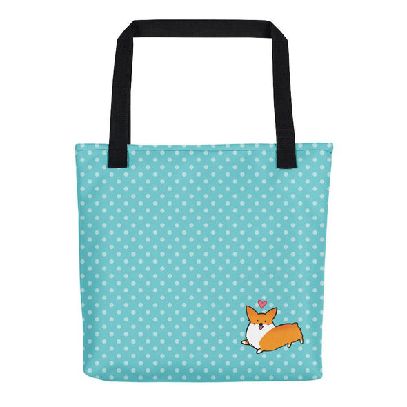 Happy Hearts Corgi Tote Bag