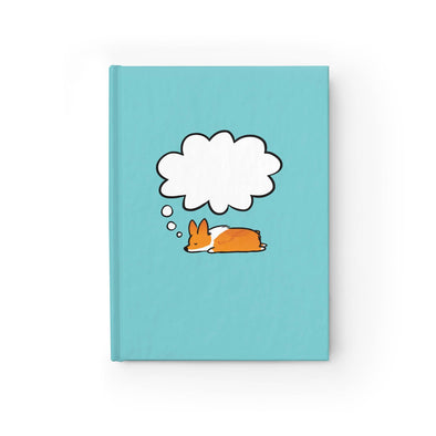 "Corgi Dreams Hardcover Sketchbook | Choose Corgi Color | Semi-gloss Hardcover 8x5"" Blank or Ruled Paper 
