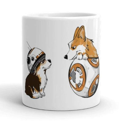 BB8 and Corgi friends Tea or Coffee mug