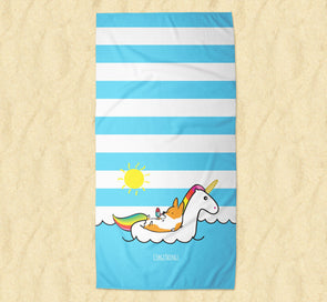 Summertime Loafin' Corgi Beach Towel | 2 Sizes