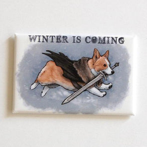 Winter is Coming Corgi Magnet