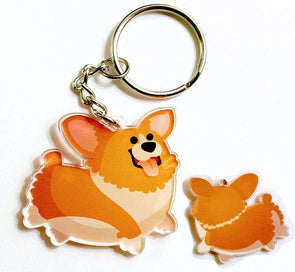 Corgi Keychain (Red)